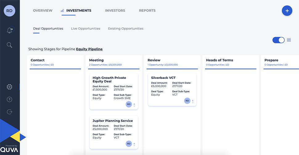 Quva Alternative Investment Solutions Pipeline Dashboard